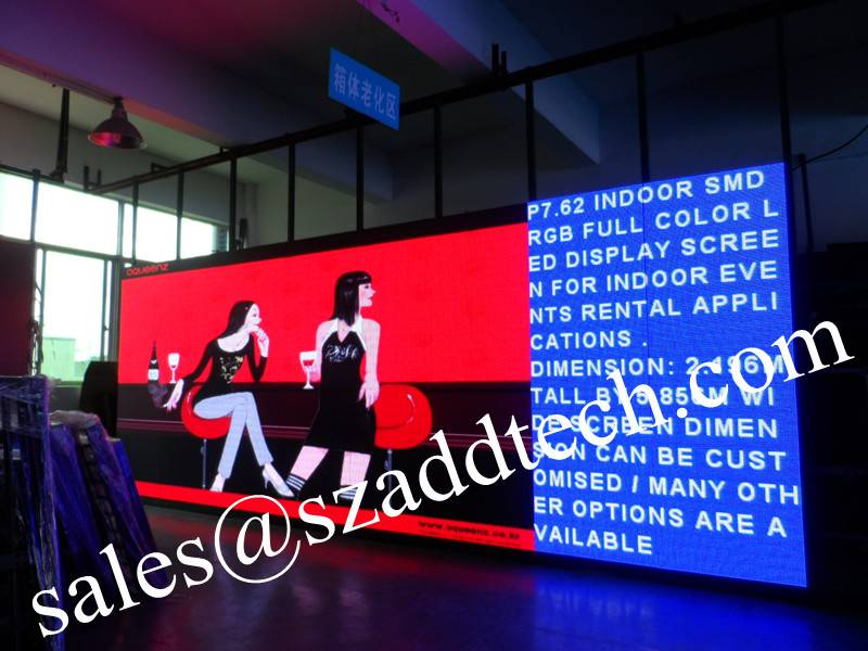P7.62mm Australia Rental Indoor LED Display