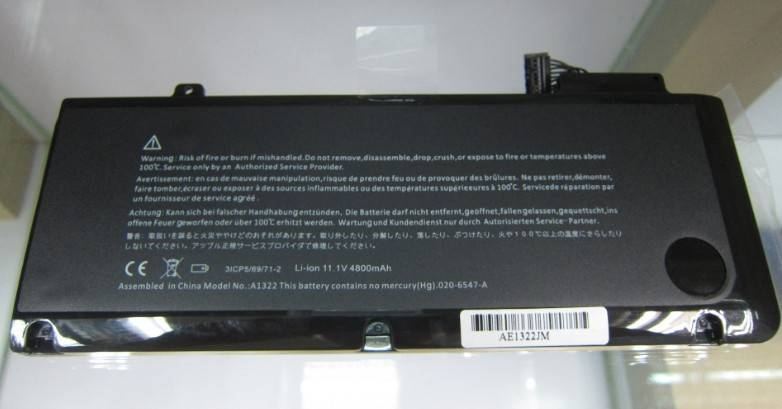 Replacement Battery A1322 fit Macbook Pro 13