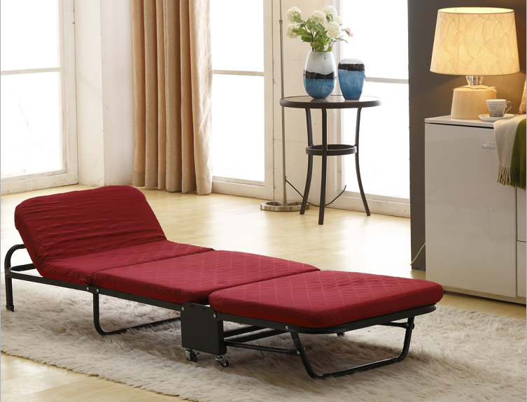 Adjustable Portable Folding Bed with Mattress