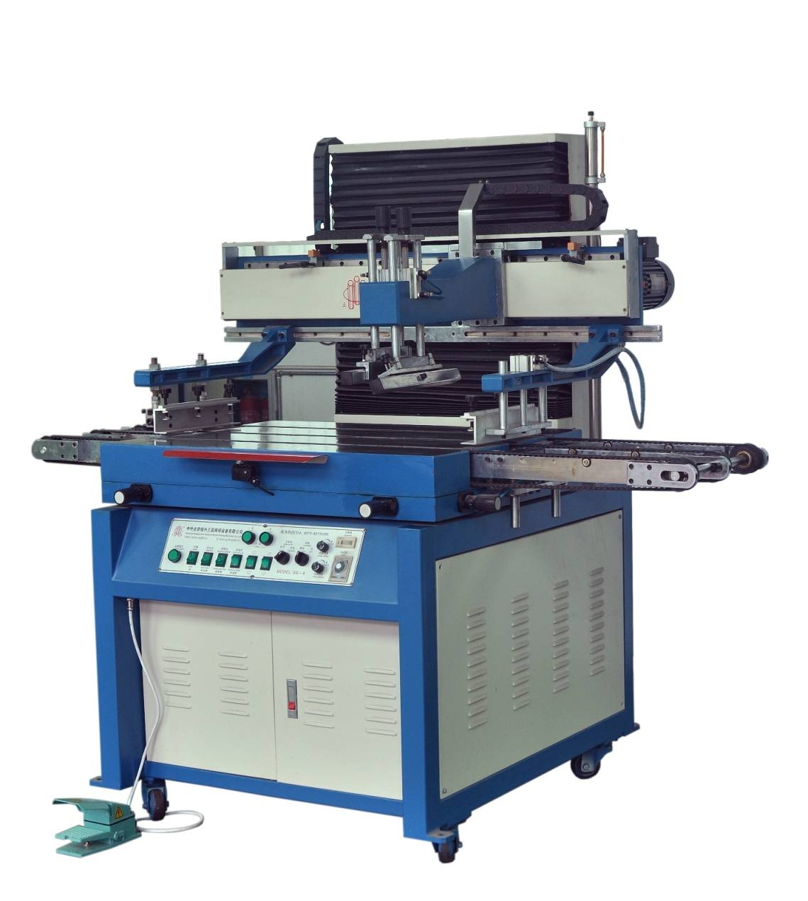 High Precision Automatic Discharging Flat Vertical Screen Printing Machine
