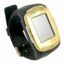 007+ Watch Phone With Bluetooth & Pinhole Webcam (Golden) - 1.5 Inch
