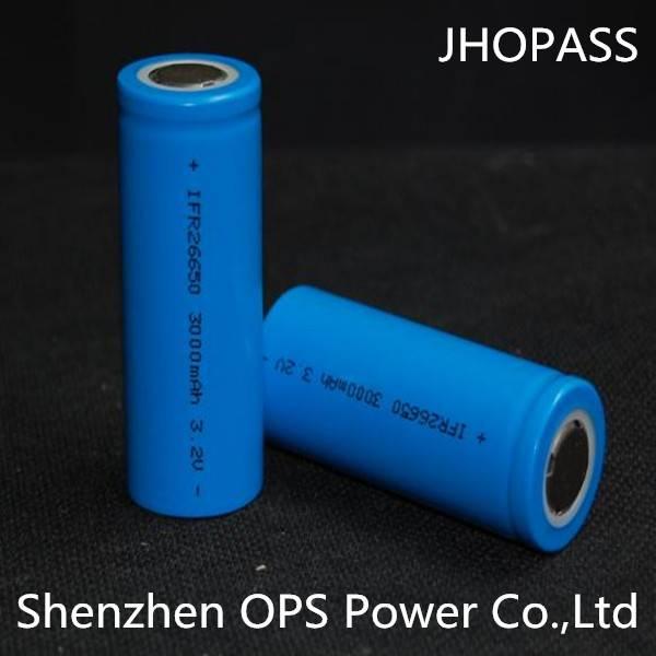 Lifepo4 battery 26650 3.2V2.3AH power cell for e-car/e-motorcycle/e-bike