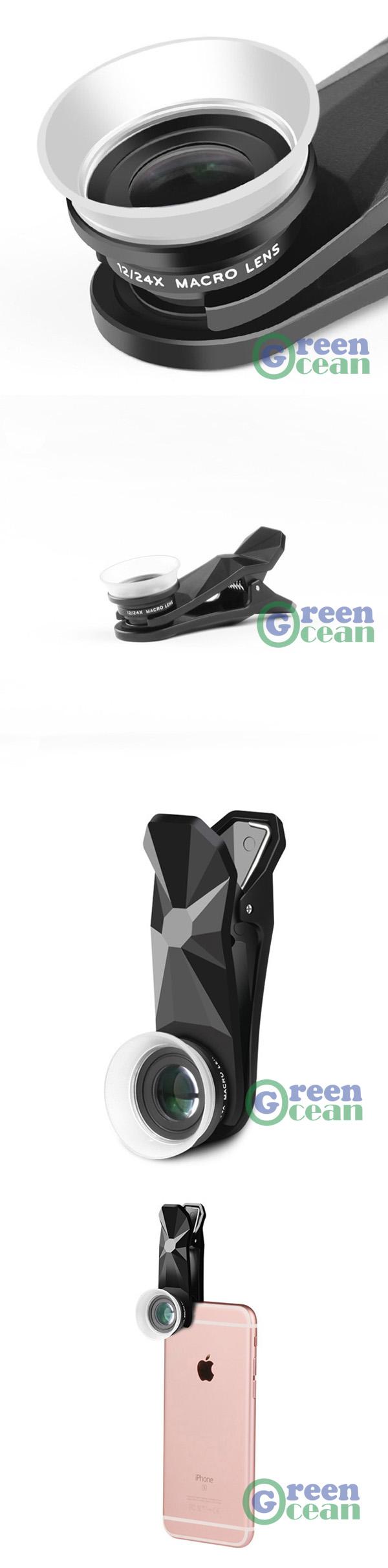 Universal Macro Photography Lenses 12-24X Super Macro Lens for Mobile Phones