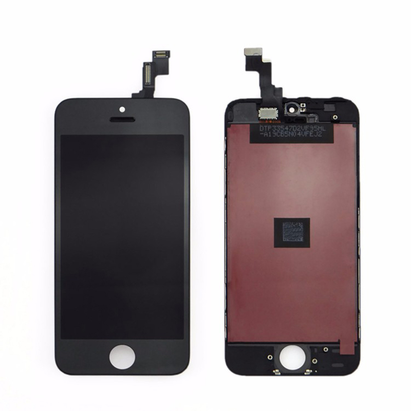 For Apple iPhone 5 LCD Screen and Digitizer Assembly with Frame Replacement - Black - AAA Original Q