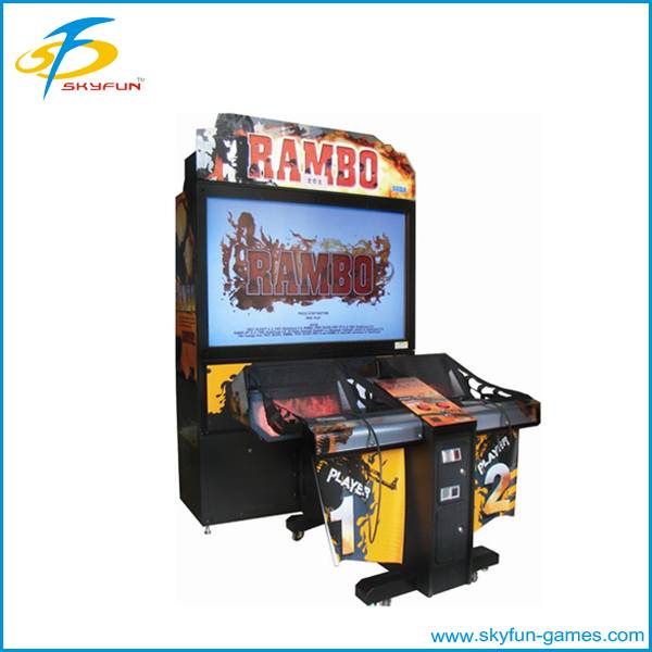 Rambo shooting machine fighting shooting gun machines