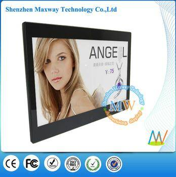 HD video display slim 13.3 inch multi functional digital photo frame,lcd digital frame wide screen n