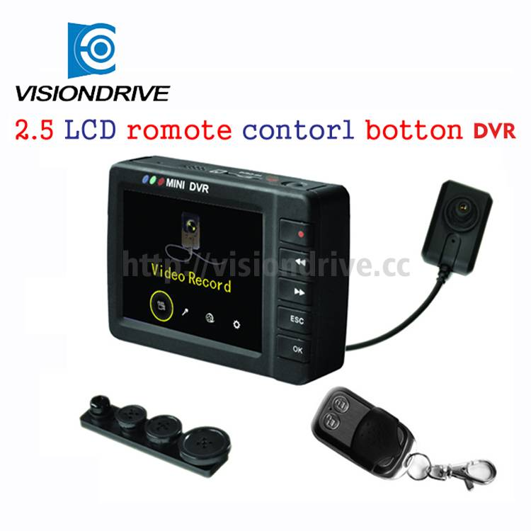 MINI digital DVR button HD shirt camera with 960240 HD screen DVR recorder hidden camera