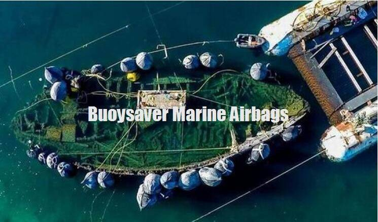 Inflatable Rubber Airbags help Lifting and Floating of broken Ship for Norway Customer in the Arctic