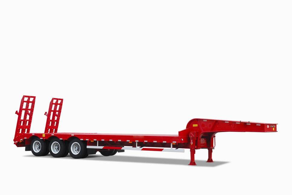Concave heart low bed semitrailer