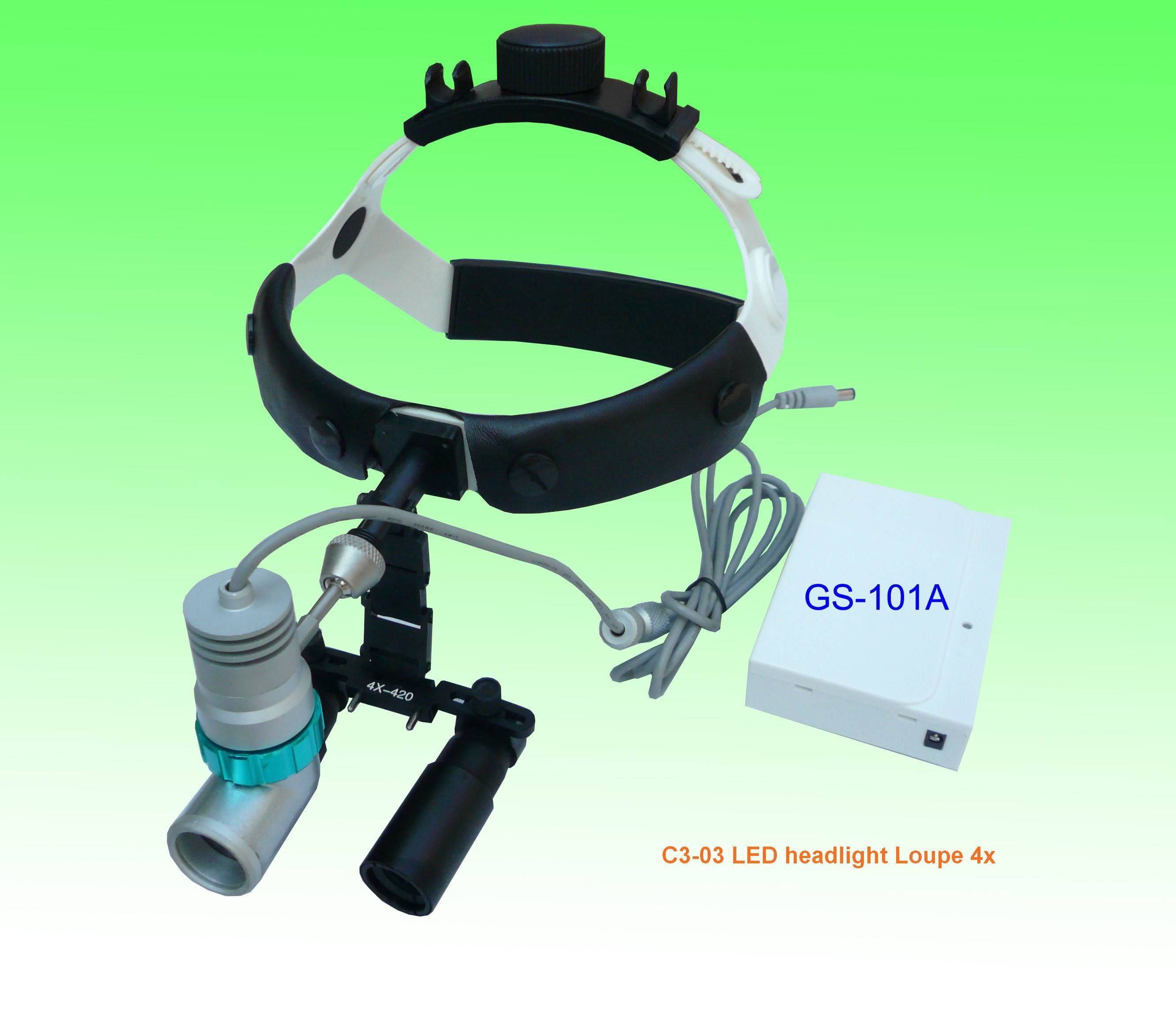 rechargeable surgical LED headlight with magnifier loupe 4x
