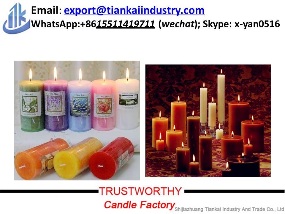 white smokeless dripless stick candle