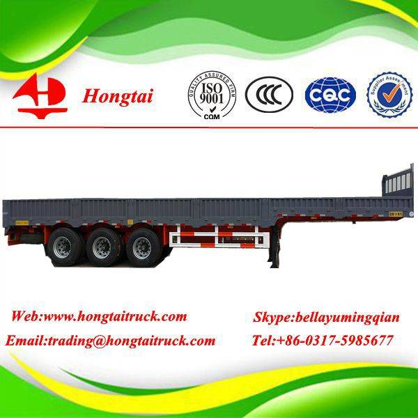 3 axle side wall semi trailer