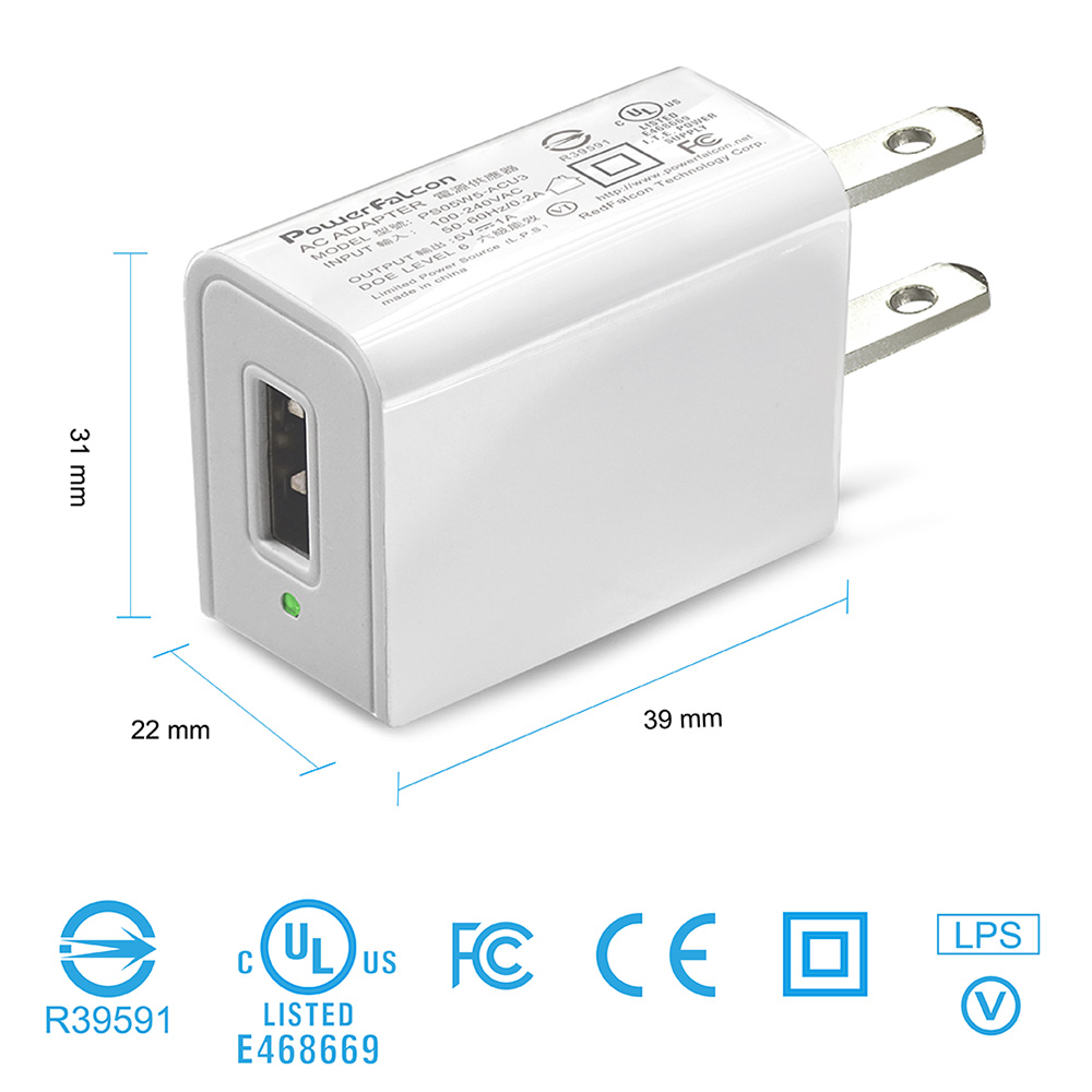PowerFalcon 5W(5V/1A)Universal Charger/US