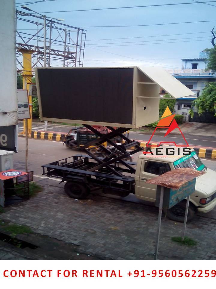 Hydraulic Led Truck , LED screen & video wall on rent / Hire in Delhi,