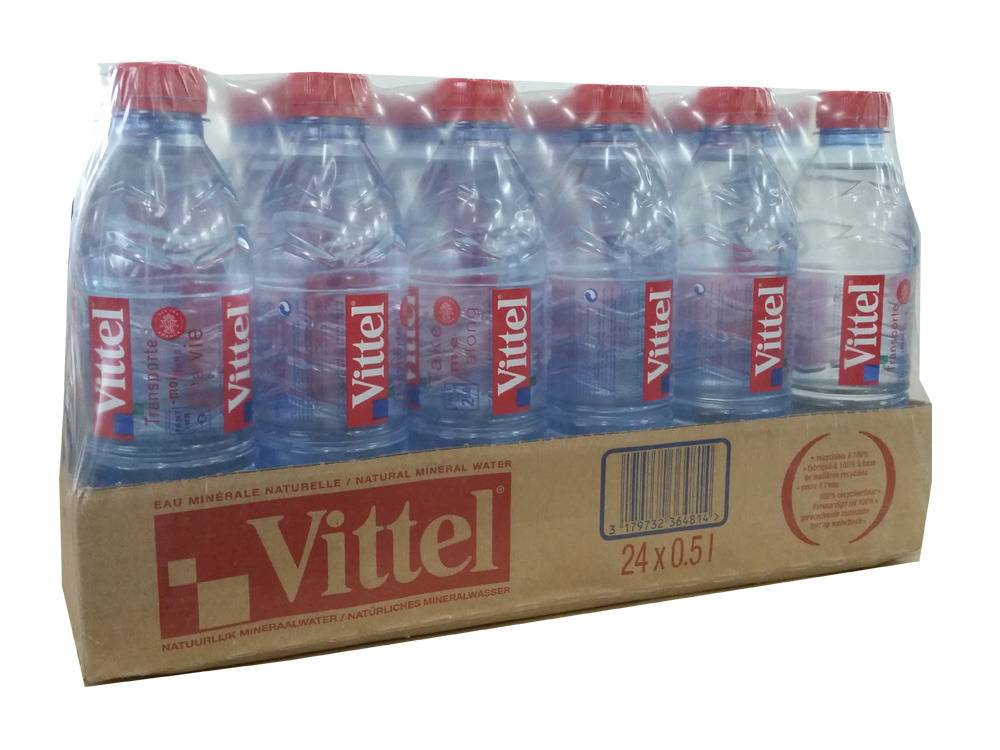 Vittel Spring Mineral Water PET 500ml (24-Pack/case)
