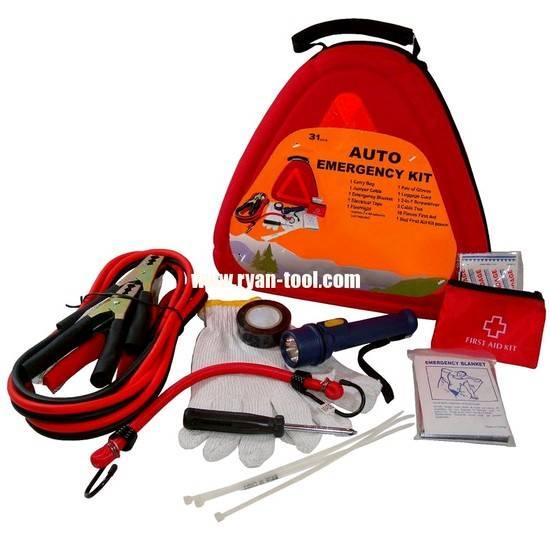 Survival-31-pieces Auto Emergency Kit, Item# 1045