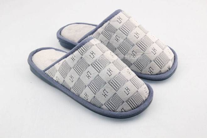 printed easy velour mule slippers