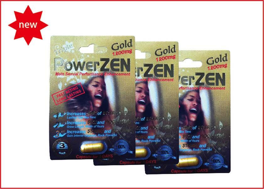 1200mg Herbal Gold Powerzen Male Enhancement Supplement For Men
