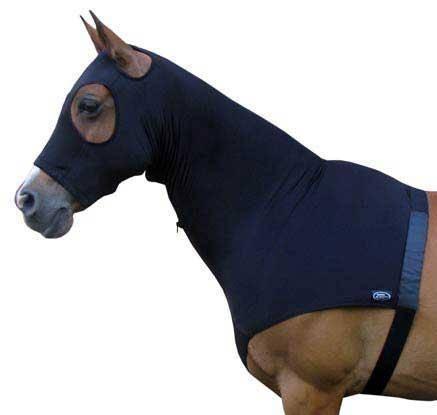 Lycra horse hood