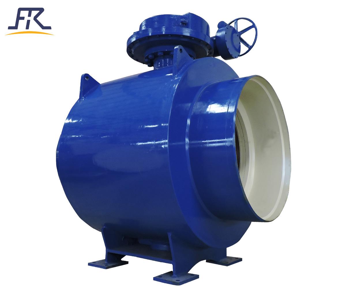Fully welded ball valve