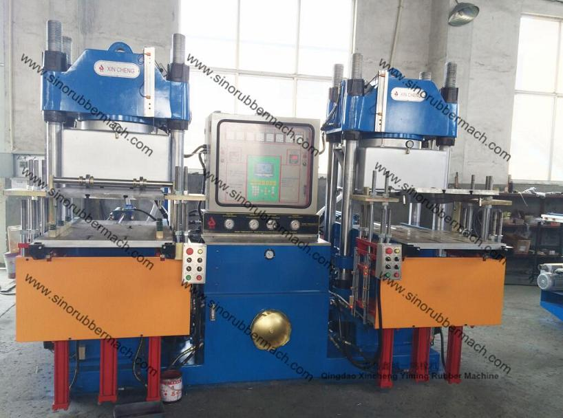 Vacuum Rubber Compression Moulding Press For Fluorine Rubber