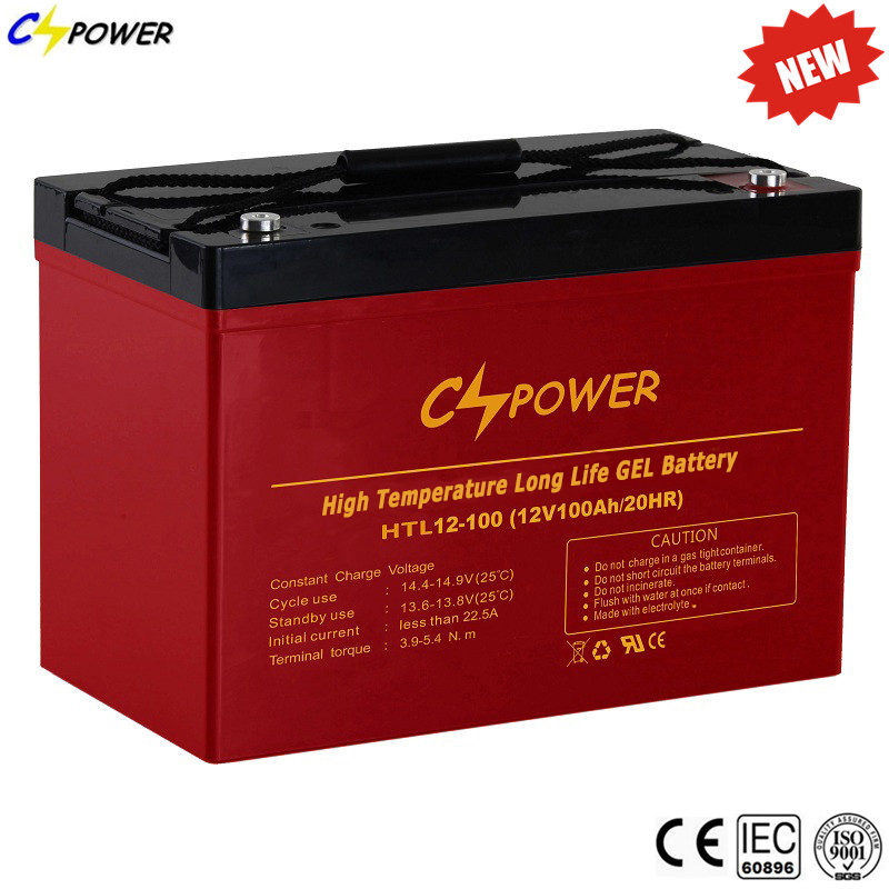 Cspower Anti- High Temperature Rechargeable Sealed Lead Acid Battery 12V 100Ah gel battery