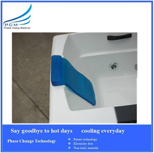 gel bath neck rest pillow/ice bath mat non-toxic no stimulation