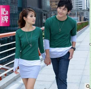 Couple long sleeve T Shirt 2011 new arrival autumn clothing Corea L188