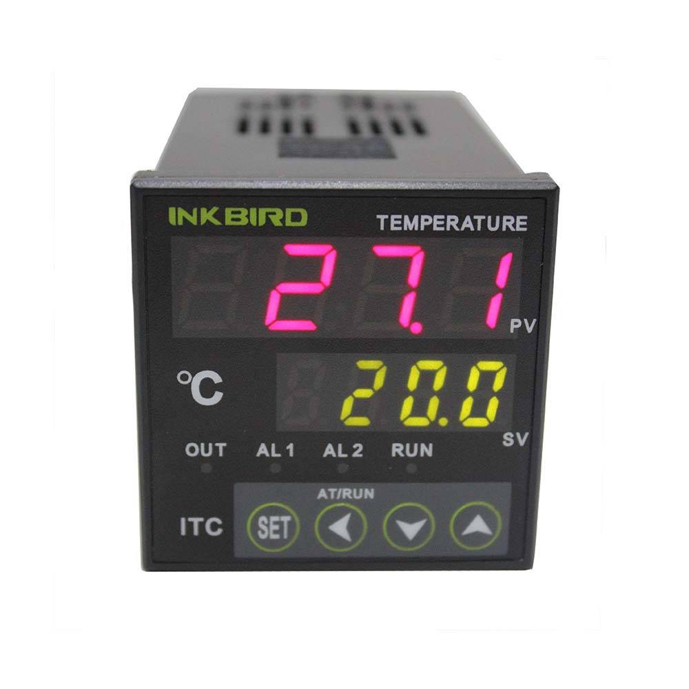 Inkbird PID Temperature Controller with Omron Relay & SSR Voltage Output 12-24V DIN 1/16 ITC-100VL