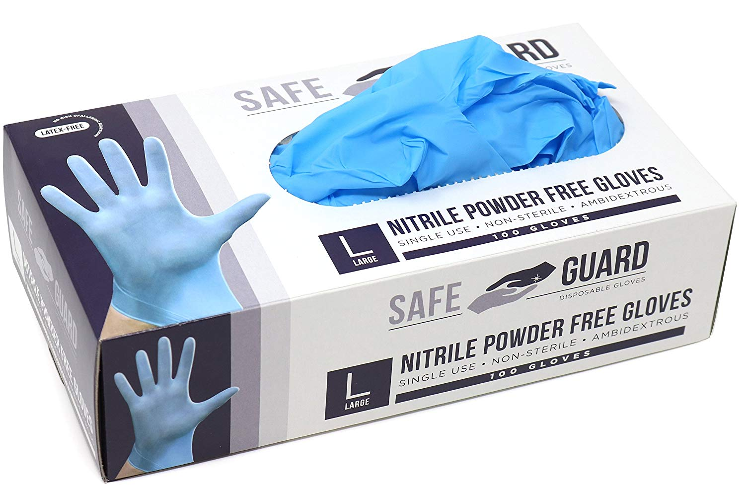 Powder Free Disposable Latex Surgical Examination Gloves