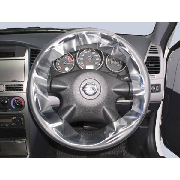 Wholesale for disposable clear transparent PE plastic steering wheel cover as repair kits for refini