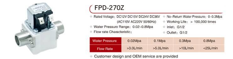 Water heater solenoid valve FPD-270Z