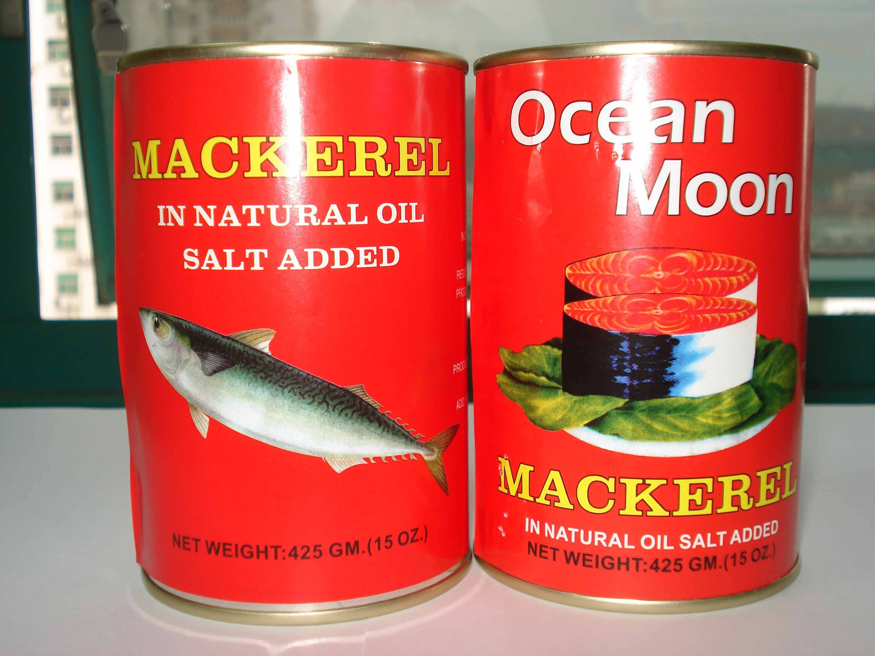 canned mackerels in veg oil