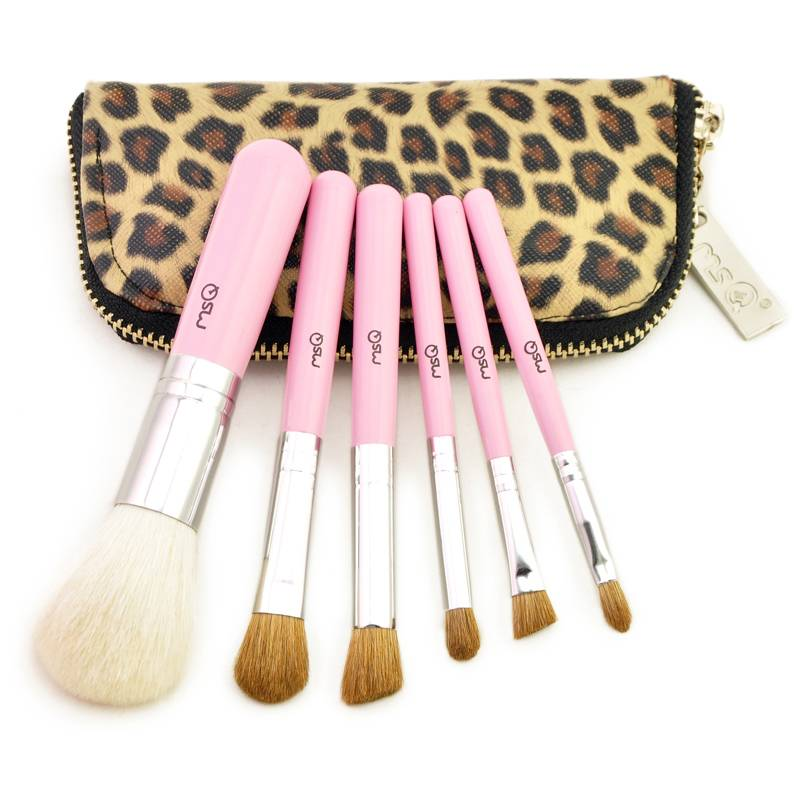 Professional Red And Pink Cosmetic Brush Set , Easy To Use