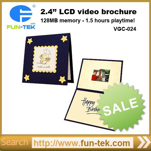 2.4 inch LCD Invitation Video Greeting Card VGC-024