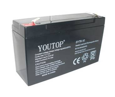 6V10AH for electric toy, emergency light etc