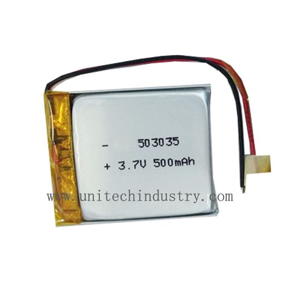 rechargeable li-polymer battery Pack 503035 500mAh 3.7V