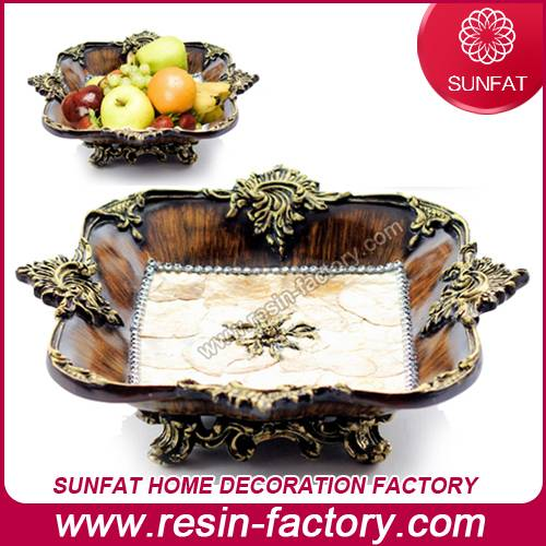 Luxury home accessories resin fruit dish for wedding decor