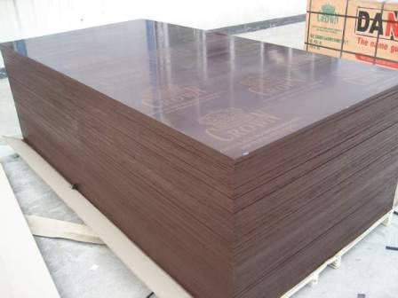 Brown film faced plywood with Crown brand