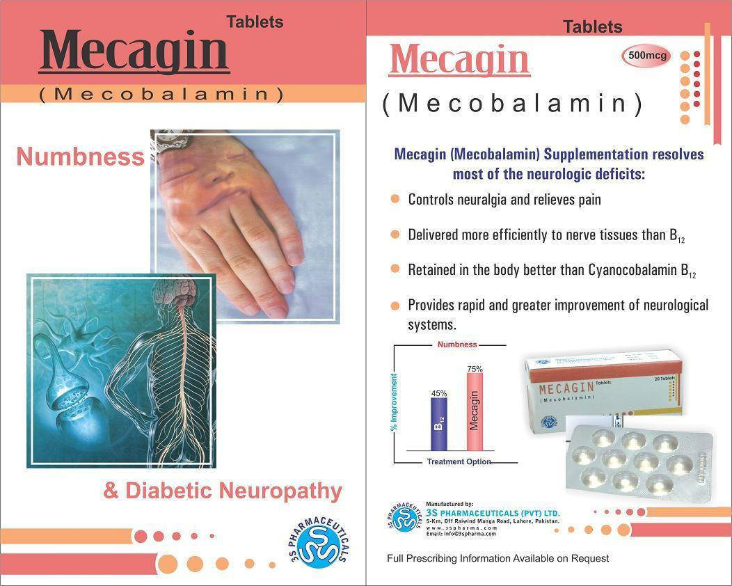 Mecobalamain                Mecagin 500 Mcg Manufacturer, Supplier