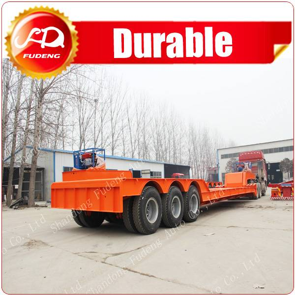 China Supplier Heavy Duty Drum Brake Gooseneck Detachable Lowboys for Sale