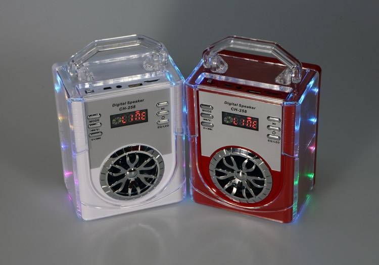 LED lamp support TF card FM Mini Speaker Munual , Motivity Speaker , Portable Stereo Digital Speaker