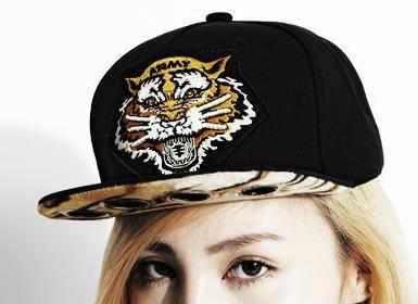 2014 Fashion models korean hat person handsome leopard tiger head level xOS refers street dance hip-
