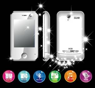 MINI iphone KA08 dual simcard dual standby