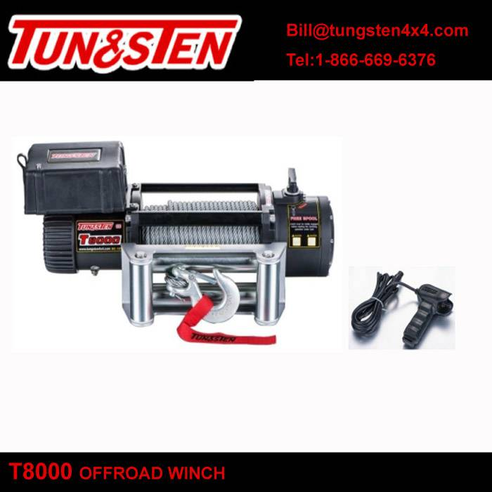 Tungsten 4wd offroad winch T8000 8000lbs pulling