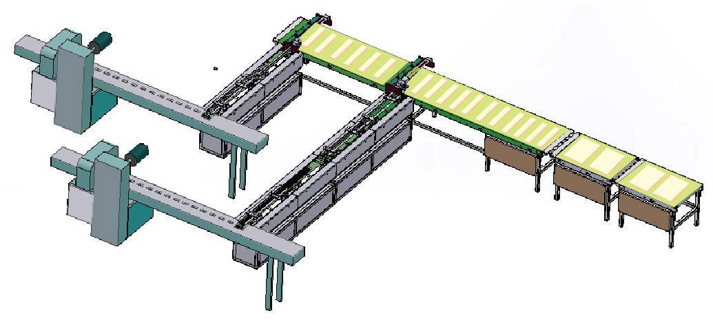 Automatic wafer (one piece) feeding & packing line