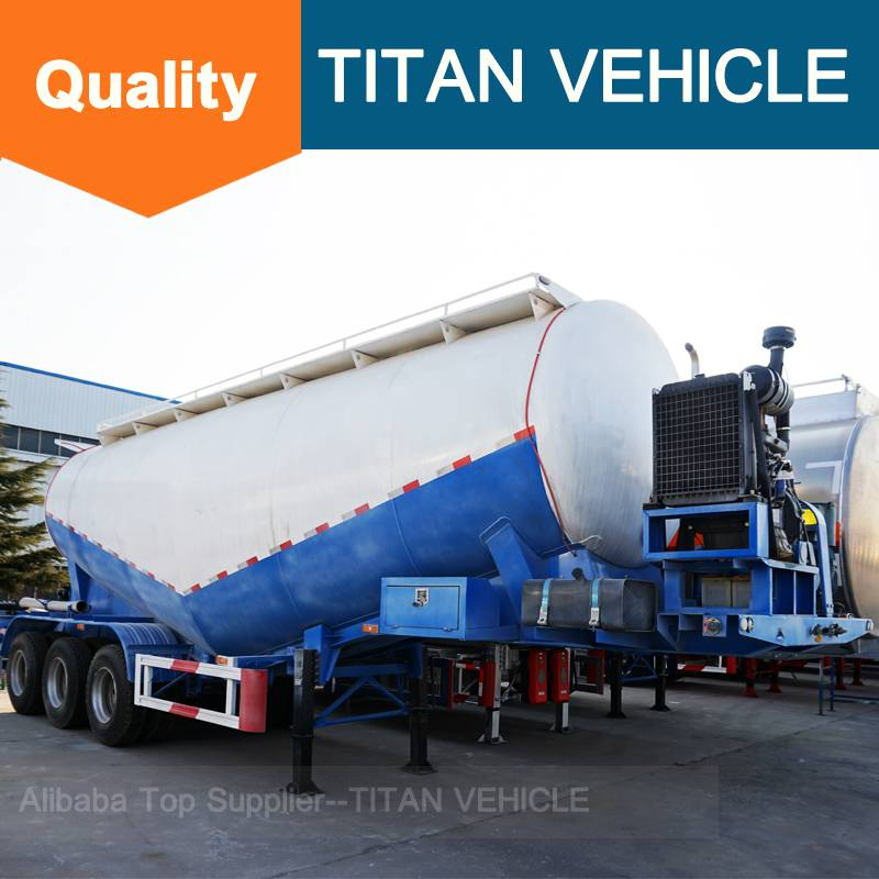 Titan Vehicle Aluminum Cement Trailer bulk cement transportation truck