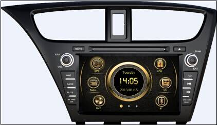 car multimedia player for 2014 Honda Civic Hatch Back