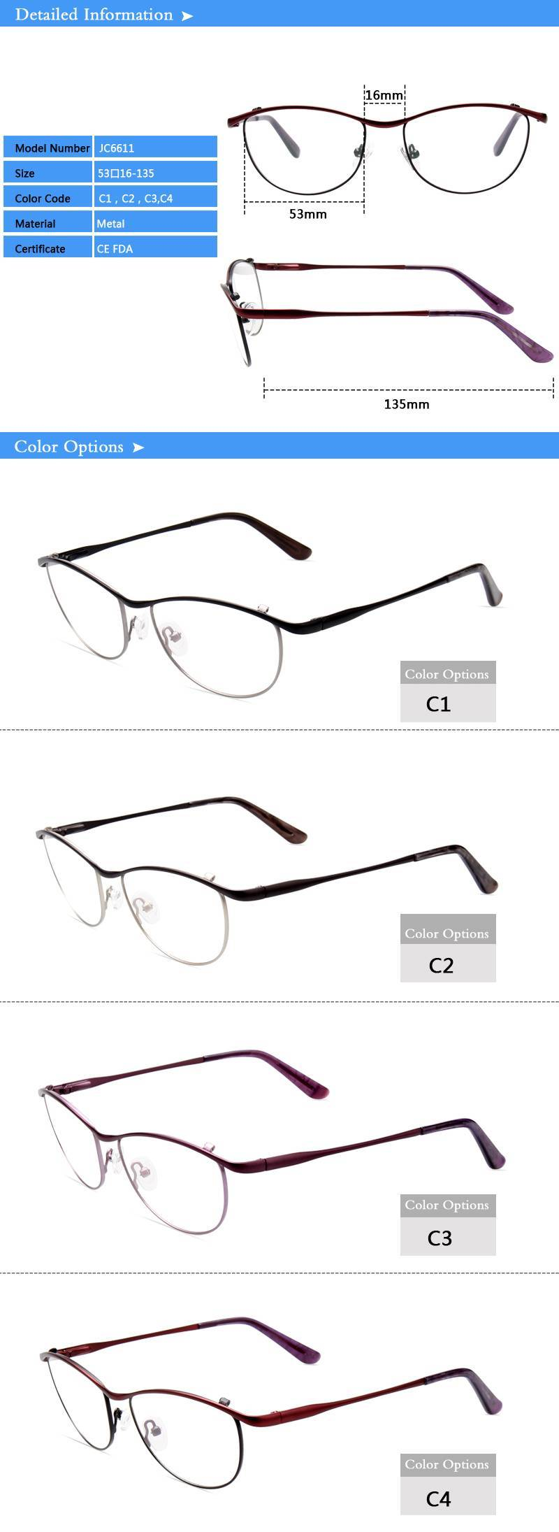 rimless eyeglasses frames ready in stock