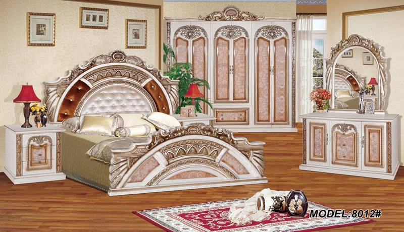 2011 New Arabic Design Antique Bedroom Set 8012 ...